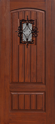 2-V-groove-Panel-Top-Rail-Arch-w_-Florentine-Grille