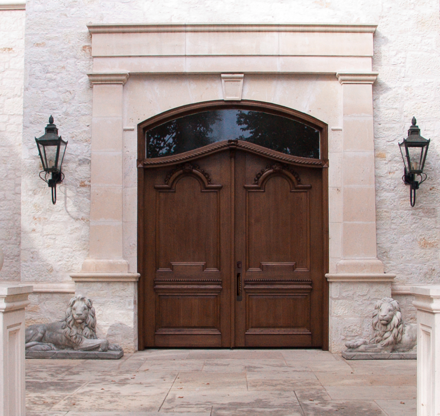 White Oak Carved Double Doors And Company
