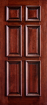 Mahogany-6-panel-Colonial-with-Raised-Moulding