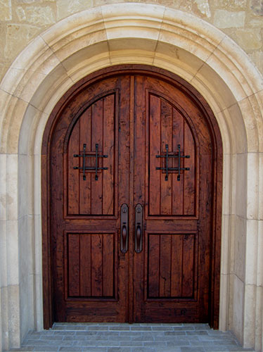 & Mesquite True Arch Double | Doors And Company